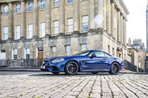 Фото Mercedes-Benz Металлик Синяя 2016 AMG SL 63 автомобиль