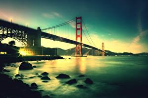 Фотография Мосты Штаты Сан-Франциско Bay Bridge