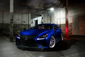 Обои Lexus Синие RCF 3 Vossen авто