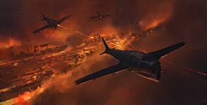 Картинки Самолеты Истребители Рисованные