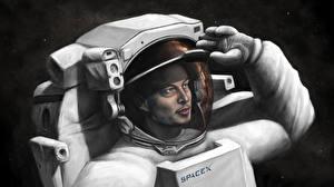 Обои Космонавты Рисованные Elon Musk, SpaceX Космос фото