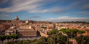Фото Рим Италия Дома Небо