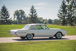 Обои Ford Ретро Белый Сбоку 1962 Thunderbird Convertible (76A) Автомобили фото