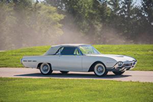 Фотографии Ford Старинные Белых Сбоку 1962 Thunderbird Convertible (76A) авто