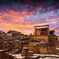 Обои Греция Развалины Дворец Knoss palase Crete Города фото