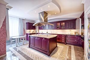Обои Интерьер Дизайн Кухня Стол Потолок фото