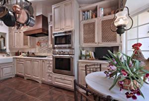 Обои Интерьер Дизайн Кухня Лампа фото