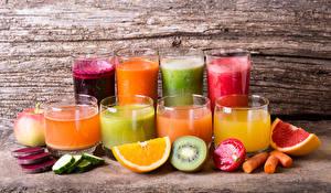 Фото Напитки Сок Овощи Фрукты Смузи Стакан Еда