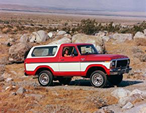 Картинка Ford Винтаж Сбоку 1978 Bronco Wagon 4x4 Ranger XLT Pkg Автомобили