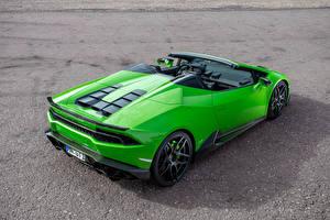 Фото Lamborghini Зеленый Huracan Spyder Novitec Torado