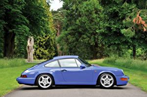 Обои Porsche Старинные Сбоку Металлик 1991-93 911 Carrera RS 3.6 Touring Машины