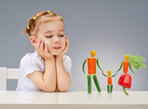 Обои Овощи Девочки Руки Дизайн Дети фото