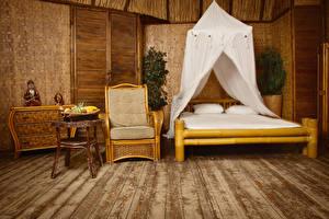 Обои Интерьер Дизайн Спальня Кровать Кресло фото