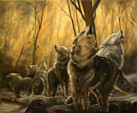 Фотография Игра престолов (телесериал) Волки Рисованные The North Remembers Фильмы