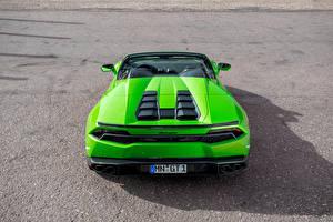 Обои Lamborghini Зеленый Вид Huracan Spyder Novitec Torado