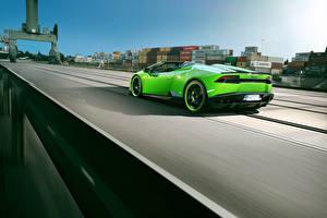 Картинки Ламборгини Зеленый Huracan Spyder Novitec Torado Машины