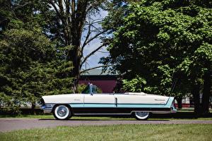Картинки Старинные Кабриолет Сбоку 1956 Packard Caribbean Custom Convertible Авто
