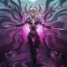 Обои League of Legends Воители Irelia, Monori Rogue Девушки