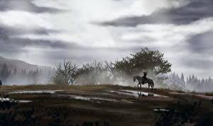 Обои The Witcher Воители Геральт из Ривии Игры фото