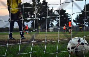 Фотография Футбол Спортивная сетка Мячик спортивные