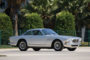 Картинки Мазерати Ретро Серебристый Сбоку 1965-69 3700 GTi Sebring   Vignale Авто