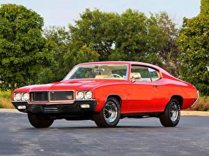 Обои Бьюик Старинные Красный Металлик 1970 GS 455 Stage 1 Show Car Машины