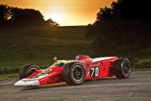 Картинка Lotus Винтаж Формула 1 Красные 1968 Lotus 56 Автомобили Спорт
