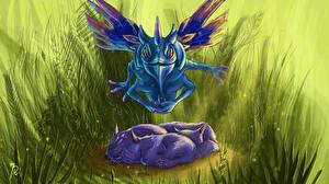Фотографии DOTA 2 Puck Сверхъестественные существа Игры Фэнтези