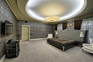 Обои Интерьер Дизайн Спальня Кровать Потолок фото