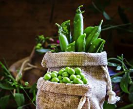 Фотография Овощи Зеленый горошек Продукты питания Еда