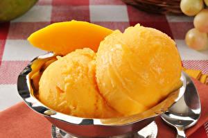 Обои Сладости Мороженое Шарики Желтый Еда фото