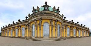 Картинки Германия Потсдам Дворца palace Sanssouci город