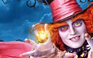 Фотография Алиса в стране чудес Johnny Depp Шляпа Alice Through the Looking Glass 2016 Фильмы Знаменитости