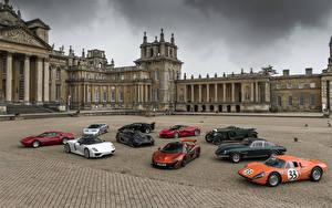 Обои Porsche McLaren Aston Martin Jaguar Bentley Ferrari Автомобили фото