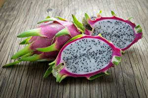 Фотографии Фрукты Вблизи Драконий фрукт Продукты питания