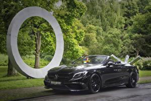 Фото Mercedes-Benz Брабус Черный Кабриолет Металлик 2016 Brabus 850 Cabriolet (A217)
