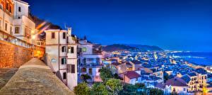 Фотографии Дома Италия Ночь Amalfi Coast Gulf of Salerno Города