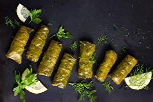 Обои Вторые блюда Лимоны Укроп Еда фото