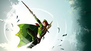 Фото DOTA 2 Windrunner Воин Лучники Эльф компьютерная игра Фэнтези Девушки