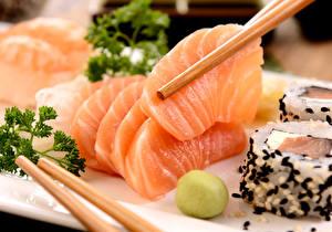 Фотография Морепродукты Рыба Еда
