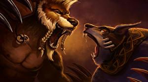 Обои DOTA 2 Lone Druid Воители Медведи Ursa warrior Монстры Игры Фэнтези фото