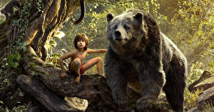 Обои Медведи Мальчики The Jungle Book 2016 Фильмы фото
