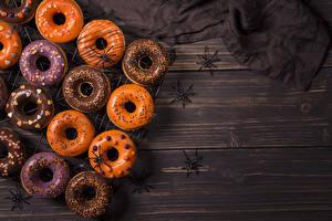 Картинка Выпечка Пауки Хеллоуин Пончики Еда