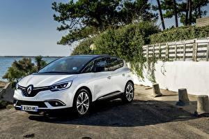 Фотографии Renault Белый Металлик Гибридный автомобиль 2016 Scenic Hybrid Assist автомобиль