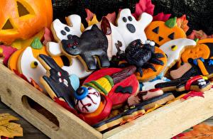 Обои Праздники Хеллоуин Печенье Дизайн Еда фото
