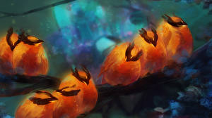 Обои DOTA 2 Phoenix Птицы Феникс Игры