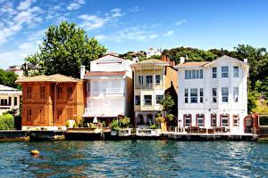 Обои Турция Дома Стамбул Города фото