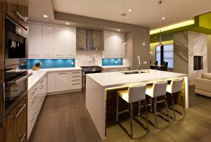 Обои Интерьер Дизайн Кухня Стол Стулья фото