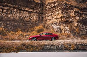 Картинка BMW Красный Сбоку 2016 440i Coupe xDrive M Performance Red Edition Машины