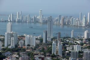 Картинка Здания Небоскребы Реки Колумбия Cartagena